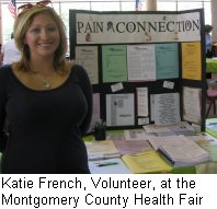 Katie French, Volunteer, Montgomery County Health Fair